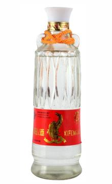39°西凤酒(水晶瓶)500ml 90年代后期 陈年老酒